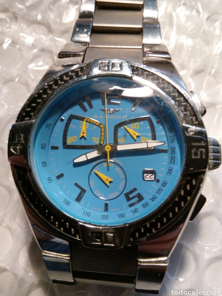 Relojes - Sandox: Reloj Sandoz ediccion Fernando Alonso, swiss made, crono y datario wr 100 m color de Asturies - Foto 7 - 134054183