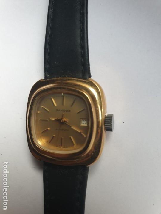 Relojes - Sandox: RELOJ SRA SANDOZ CHAPADO EN ORO - Foto 3 - 36048358