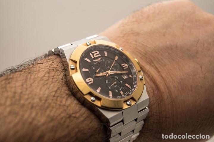 Relojes - Sandox: ESPECTACULAR CRONOGRAFO SANDOZ ACERO Y ORO - Foto 8 - 182962236
