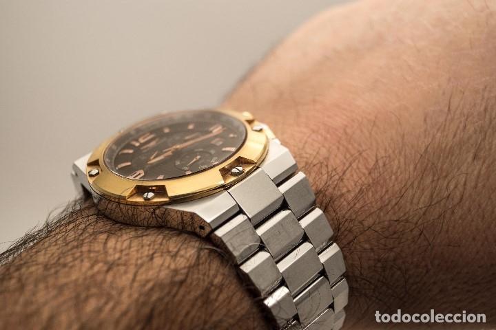 Relojes - Sandox: ESPECTACULAR CRONOGRAFO SANDOZ ACERO Y ORO - Foto 10 - 182962236