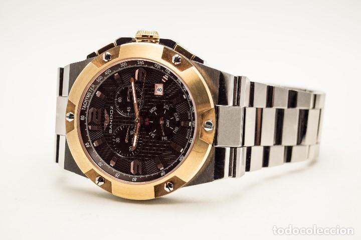 Relojes - Sandox: ESPECTACULAR CRONOGRAFO SANDOZ ACERO Y ORO - Foto 14 - 182962236