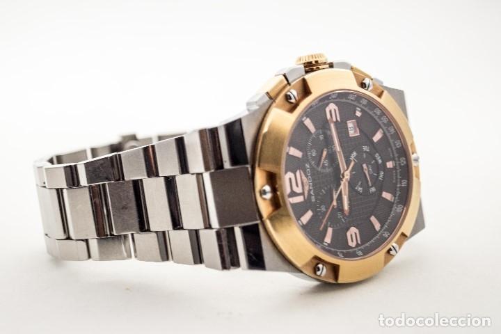 Relojes - Sandox: ESPECTACULAR CRONOGRAFO SANDOZ ACERO Y ORO - Foto 15 - 182962236