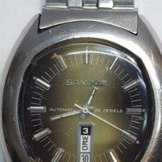 Relojes - Sandox: RELOJ CABALLERO AUTOMÁTICO SANDOZ 25 JEWELS CALENDARIO A LAS 6 FUNCIONANDO . Lote 189633840
