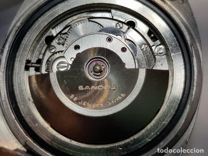 Relojes - Sandox: Reloj Caballero Automático Sandoz 25 jewels calendario a las 6 funcionando - Foto 2 - 189633840