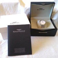 Relojes - Sandox: RELOJ SANDOZ BIOKO, ACERO, CRISTAL ZAFIRO, POR ESTRENAR. Lote 198785025