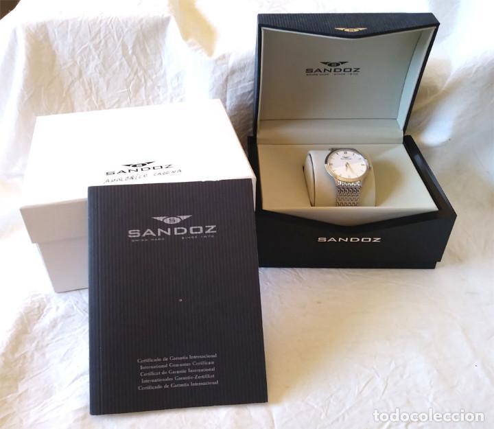 Relojes - Sandox: Sandoz Bioko Reloj Acero, Cristal Zafiro, con caja a estrenar. - Foto 2 - 207048050