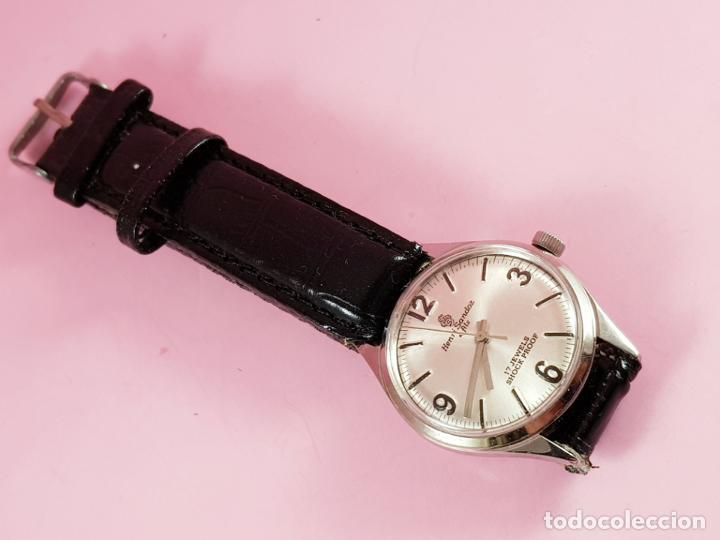 Relojes - Sandox: reloj-henri sandoz & fils-Manual-buen estado-correa piel-color a definir-antiguo-Viene de joyería ma - Foto 3 - 118360835