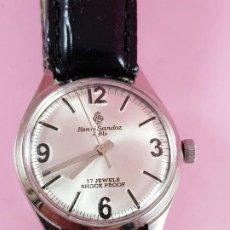Relojes - Sandox: RELOJ-HENRI SANDOZ & FILS-MANUAL-BUEN ESTADO-CORREA PIEL-COLOR A DEFINIR-ANTIGUO-VIENE DE JOYERÍA MA. Lote 118360835