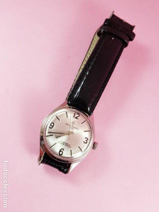 Relojes - Sandox: reloj-henri sandoz & fils-Manual-buen estado-correa piel-color a definir-antiguo-Viene de joyería ma - Foto 4 - 118360835