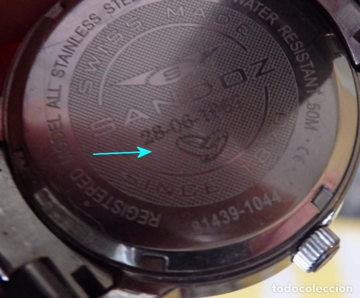 Relojes - Sandox: RELOJ SANDOZ 81439-1044 DE ACERO SOLIDO CON CRISTAL DE ZAFIRO INRAYABLE - Foto 8 - 238371845