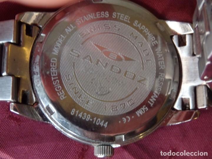 Relojes - Sandox: RELOJ SANDOZ 81439-1044 DE ACERO SOLIDO CON CRISTAL DE ZAFIRO INRAYABLE - Foto 4 - 238371845
