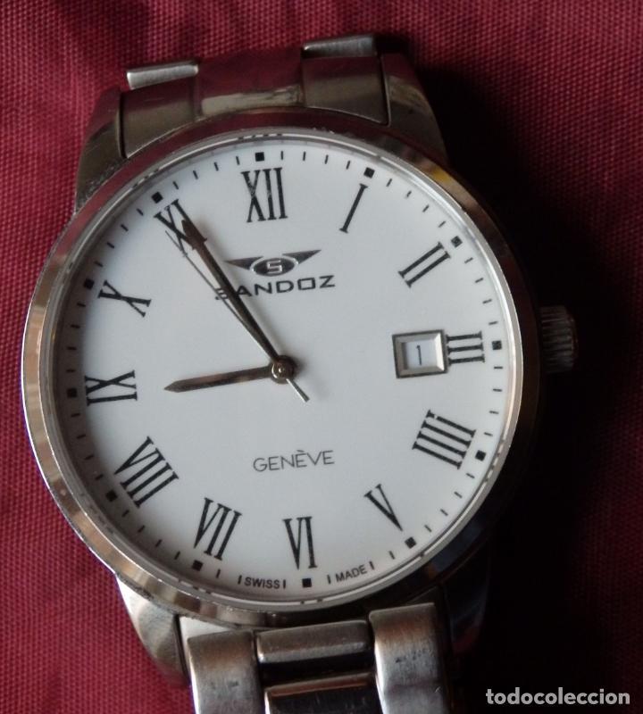 RELOJ SANDOZ 81439-1044 DE ACERO SOLIDO CON CRISTAL DE ZAFIRO INRAYABLE (Relojes - Relojes Actuales - Sandoz)
