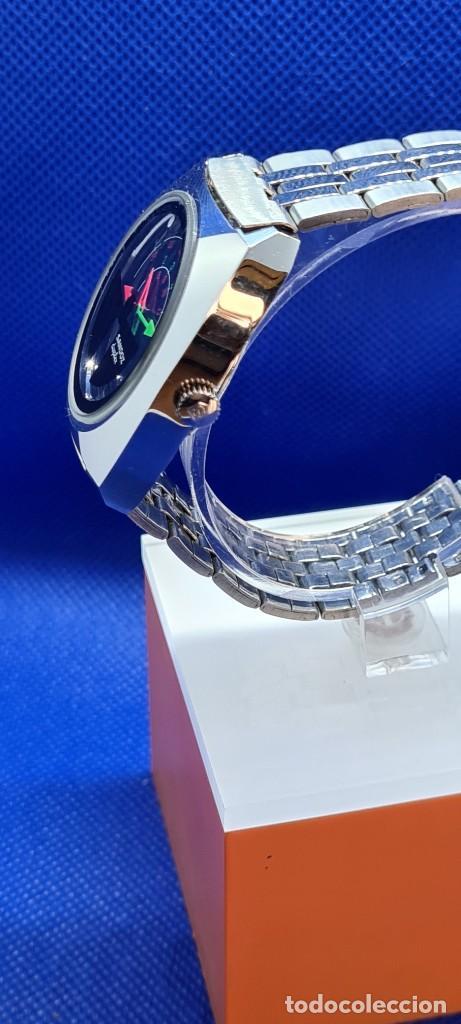 Relojes - Sandox: Reloj caballero (Vintage) SANDOZ. Dúplex automático muy raro en acero con doble calendario las seis. - Foto 12 - 248700415