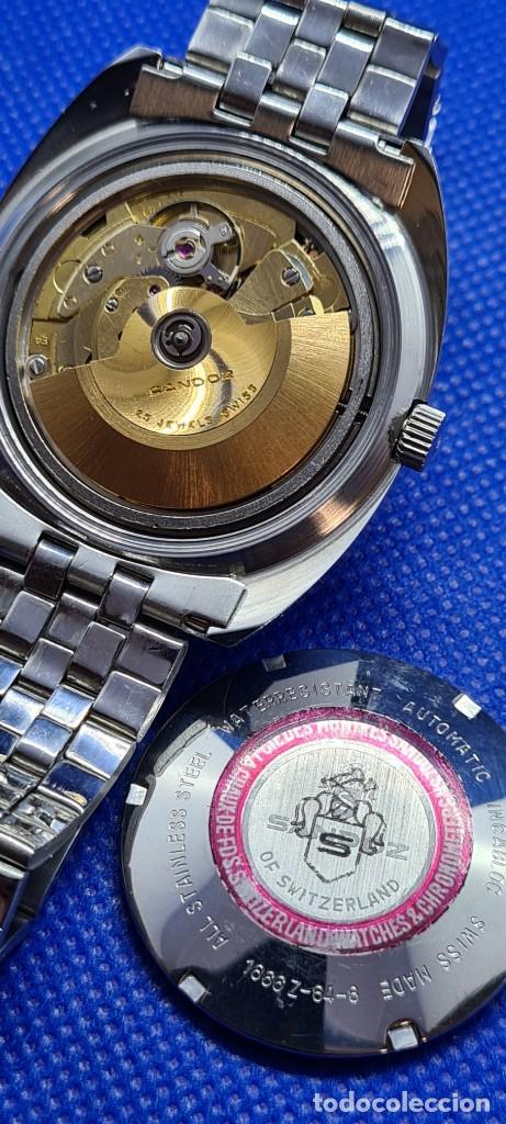 Relojes - Sandox: Reloj caballero (Vintage) SANDOZ. Dúplex automático muy raro en acero con doble calendario las seis. - Foto 17 - 248700415