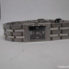 Relojes - Sandox: RELOJ ACERO PEQUEÑO ESFERA NEGRA SANDOZ.. Lote 250218015