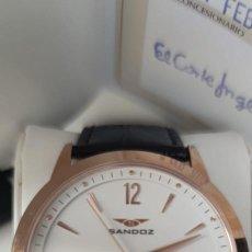 Relojes - Sandox: RELOJ SANDOZ SWISS MADE ZAFIRO ORO ROSA. Lote 257792050