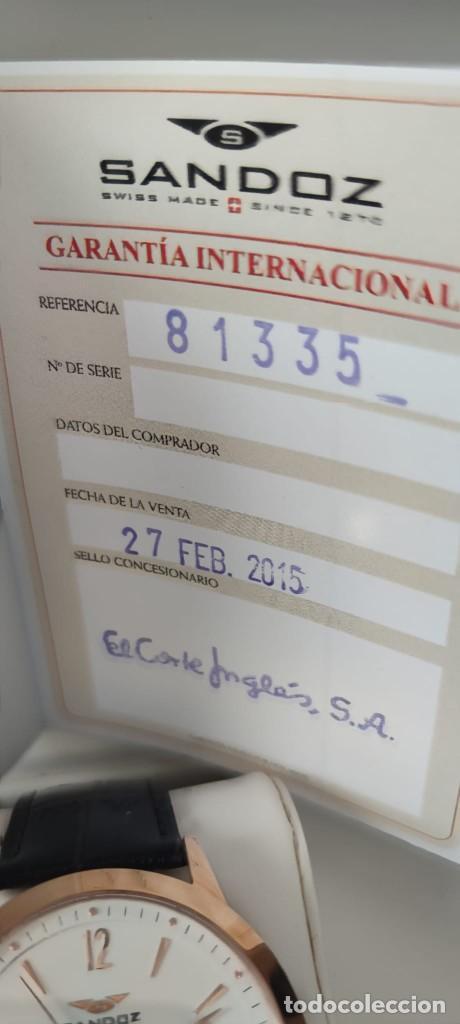 Relojes - Sandox: Reloj Sandoz swiss made zafiro oro rosa - Foto 6 - 257792050