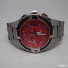 Relojes - Sandox: RELOJ SANDOZ DE ACERO CON ESFERA ROJA.COLECCIÓN FERNANDO ALONSO.VINTAGE. Lote 295494238
