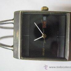 Relojes - Seiko: RELOJ SEIKO 23 J AUTOMÁTIC JAPAN 5606 5400 T ESFERA NEGRA 3,8 X 3 CM. ARMIS ORIGINAL FUNCIONANDO. Lote 27150040