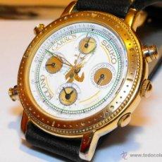 Relógios - Seiko: MUY ESCASO SEIKO ROLAND GARROS, CUATRO ESFERAS,CRONÓMETRO, ALARMA, DÍA DE MES Y SEGUNDERO.. Lote 54985867