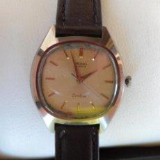 Relojes - Seiko: SEIKO EXCELINE QUARTZ RELOJ DE MUJER, CORREA DE PIEL COLOR MARRÓN OSCURO, BATERÍA Y CRISTAL NUEVOS. Lote 42541511