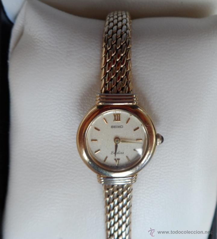 Relojes - Seiko: Seiko Exceline Reloj de mujer, Batería y cristal nuevos, Correa de acero inoxidable dorado - Foto 2 - 92127474
