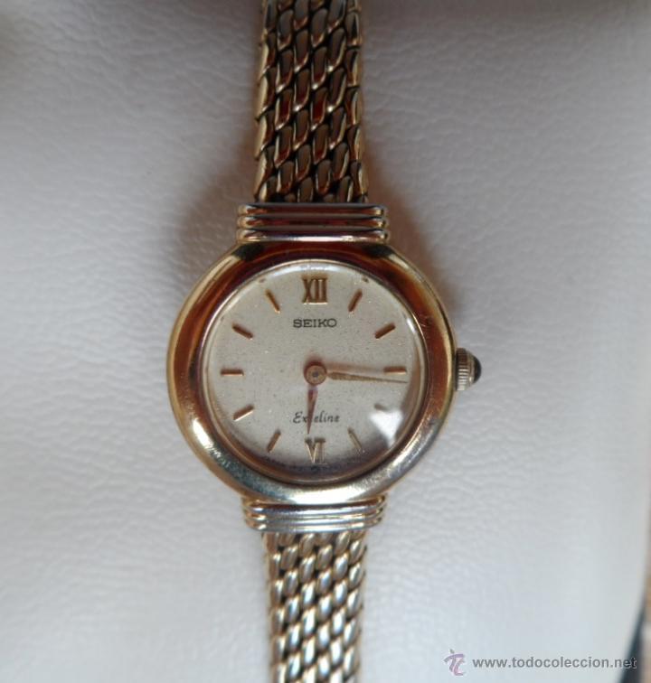 Relojes - Seiko: Seiko Exceline Reloj de mujer, Batería y cristal nuevos, Correa de acero inoxidable dorado - Foto 3 - 92127474