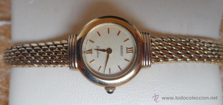 Relojes - Seiko: Seiko Exceline Reloj de mujer, Batería y cristal nuevos, Correa de acero inoxidable dorado - Foto 6 - 92127474