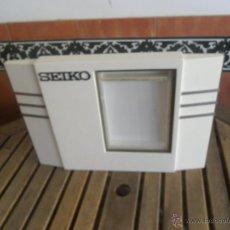 Relojes - Seiko: PORTAFOTOS O EXPOSITOR EN MADERA LACADA Y METAL PUBLICIDAD SEIKO. Lote 43747752