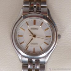 Relojes - Seiko: SEIKO EXCELINE RELOJ PARA MUJER, DE BATERÍA (LA BATERÍA ES NUEVA), RESISTENTE AL AGUA. Lote 44933221