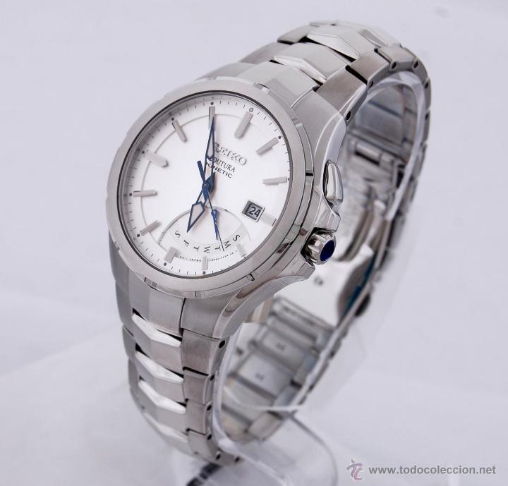 Relojes - Seiko: Seiko Coutura Kinetic Retrograde Silver Dial - Foto 10 - 53637970