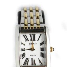 Relojes - Seiko: SEIKO SOLAR DOS TONOS DE ACERO INOXIDABLE BLANCO CUADRANTE ROMANO . Lote 58082020