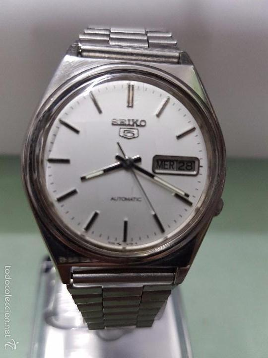 Relojes - Seiko  Reloj de caballero automático Seiko 5 calibre 7009-3140  con doble bfb253e40d43