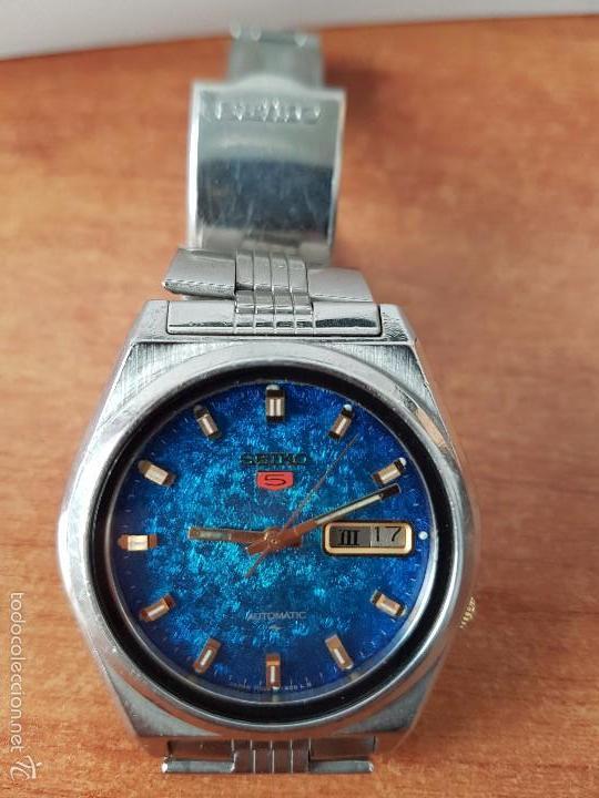 Relojes - Seiko: Reloj de caballero (Vintage) Seiko automático con calendario a las tres horas pulsera acero original - Foto 4 - 115489360