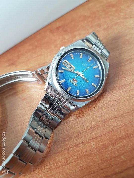 Relojes - Seiko: Reloj de caballero (Vintage) Seiko automático con calendario a las tres horas pulsera acero original - Foto 5 - 115489360