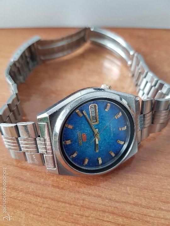 Relojes - Seiko: Reloj de caballero (Vintage) Seiko automático con calendario a las tres horas pulsera acero original - Foto 6 - 115489360