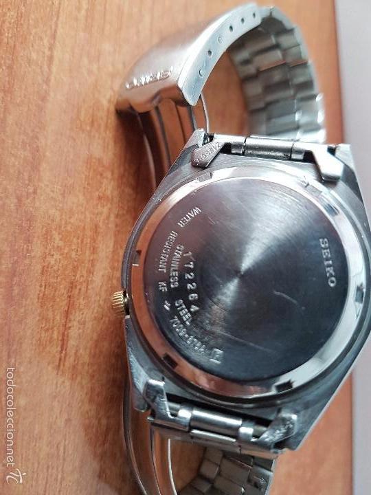 Relojes - Seiko: Reloj de caballero (Vintage) Seiko automático con calendario a las tres horas pulsera acero original - Foto 8 - 115489360