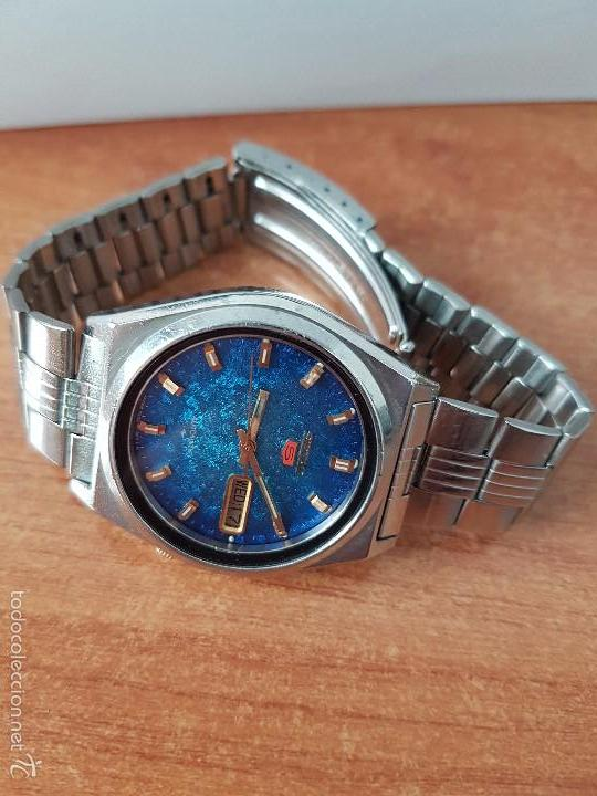 Relojes - Seiko: Reloj de caballero (Vintage) Seiko automático con calendario a las tres horas pulsera acero original - Foto 9 - 115489360