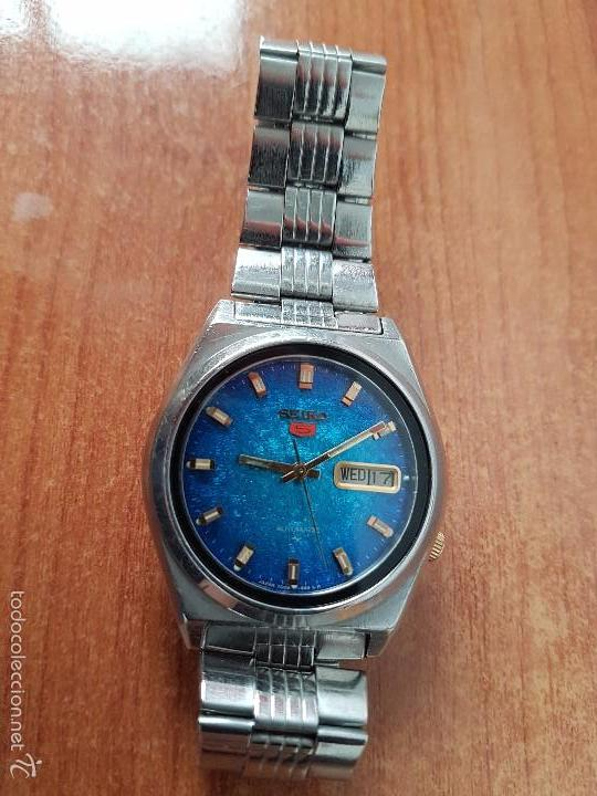 Relojes - Seiko: Reloj de caballero (Vintage) Seiko automático con calendario a las tres horas pulsera acero original - Foto 12 - 115489360