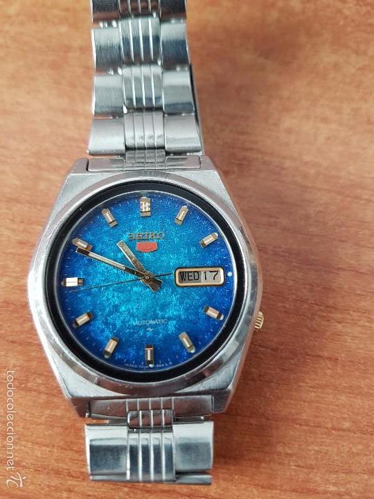Relojes - Seiko: Reloj de caballero (Vintage) Seiko automático con calendario a las tres horas pulsera acero original - Foto 13 - 115489360