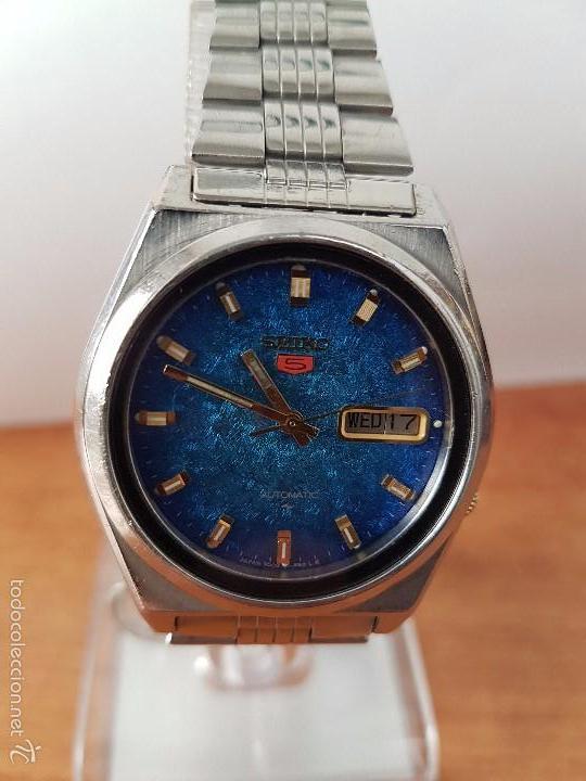Relojes - Seiko: Reloj de caballero (Vintage) Seiko automático con calendario a las tres horas pulsera acero original - Foto 14 - 115489360