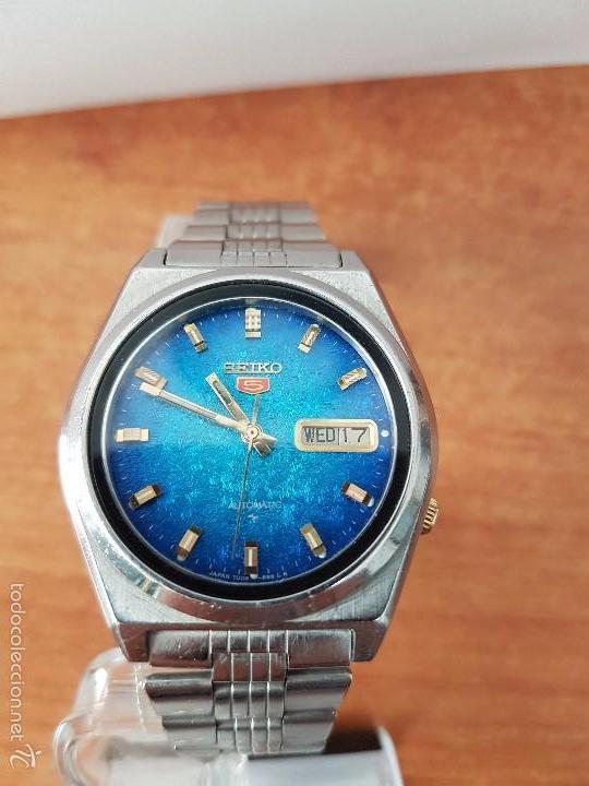 Relojes - Seiko: Reloj de caballero (Vintage) Seiko automático con calendario a las tres horas pulsera acero original - Foto 15 - 115489360