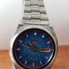 Relojes - Seiko: RELOJ DE CABALLERO (VINTAGE) SEIKO AUTOMÁTICO CON CALENDARIO A LAS TRES HORAS PULSERA ACERO ORIGINAL. Lote 115489360