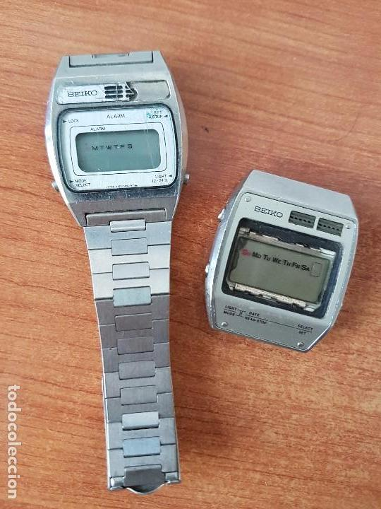 Relojes - Seiko: Dos relojes de caballero Seiko Uno correa original Seiko el otro sin correa y sin cristal no caminan - Foto 2 - 62147200