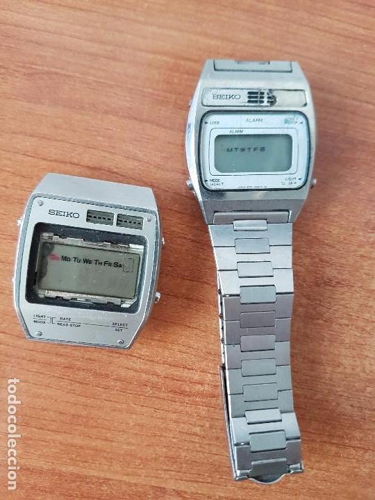 Relojes - Seiko: Dos relojes de caballero Seiko Uno correa original Seiko el otro sin correa y sin cristal no caminan - Foto 3 - 62147200