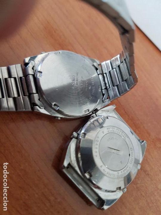 Relojes - Seiko: Dos relojes de caballero Seiko Uno correa original Seiko el otro sin correa y sin cristal no caminan - Foto 4 - 62147200