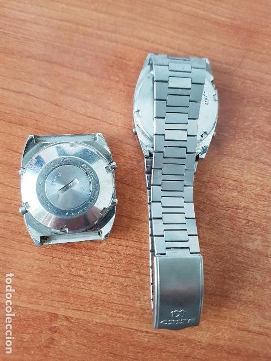 Relojes - Seiko: Dos relojes de caballero Seiko Uno correa original Seiko el otro sin correa y sin cristal no caminan - Foto 6 - 62147200