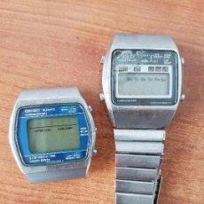 Relojes - Seiko: DOS RELOJES CABALLERO (VINTAGE) SEIKO UNO CON CORREA DE ACERO SEIKO, EL OTRO SIN CORREA PARA FORNITU. Lote 62147956