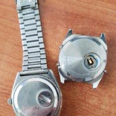 Relojes - Seiko: DOS RELOJES CABALLERO (VINTAGE) SEIKO NO FUNCIONAN PARA REPUESTOS, UNA CON CORREA, EL OTRO NO TIENE. Lote 62148744