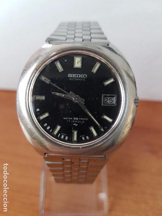 Relojes - Seiko  Reloj de caballero automático Seiko calibre 7005-8160 con  calendario 52ea3651d852